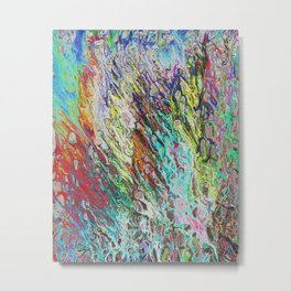 Colorful Abstract Pattern Metal Print