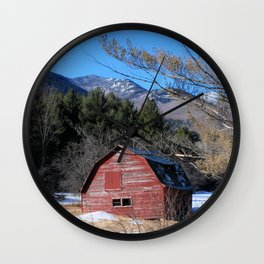 Deserted Barn in the Adirondacks Wall Clock
