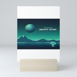 Greetings From Death Star Mini Art Print