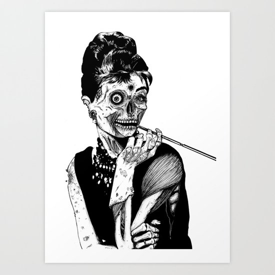 Zombie at Tiffany's Art Print