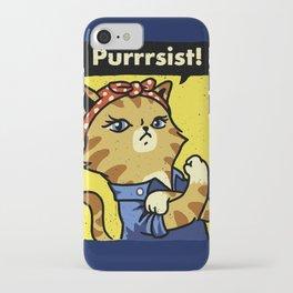 Purrsist iPhone Case