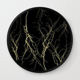 Golden Branches Pt. 2 Wall Clock