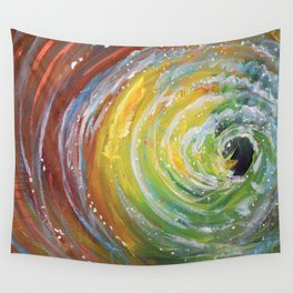 Green Tidal Wall Tapestry