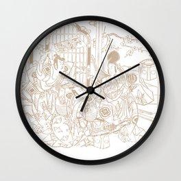 Samurais A Wall Clock