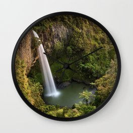 Bridal veil falls Wall Clock
