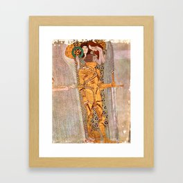 Gustav Klimt The Golden Knight Framed Art Print
