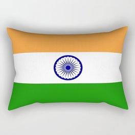 Flag of India-indian,mumbai,delhi,hindi,indus,buddhism,hinduism,buddha,gandhi Rectangular Pillow