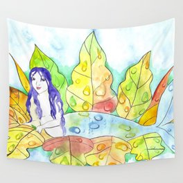 Water Drop Mermaid Wall Tapestry