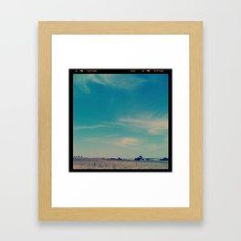 Open Texas Sky Framed Art Print