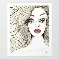 charmaine Art Prints featuring Confessions by Hailey Jayne