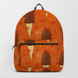 Chocolate Scoops Pattern Backpack