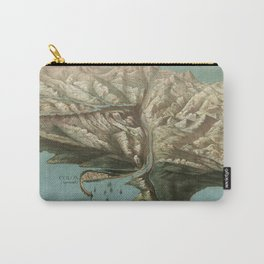 Vintage Pictorial Map of The Panama Canal (1881) Carry-All Pouch