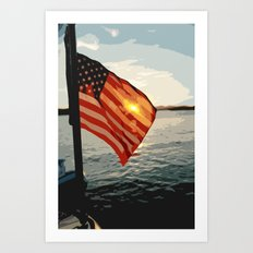 Patriot's Sunset Art Print