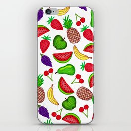 Tutti Fruity Hand Drawn Summer Mixed Fruit iPhone Skin