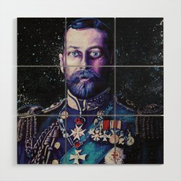 King George V Wood Wall Art