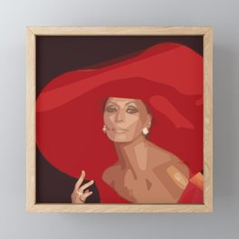 Lady In A Red Hat Framed Mini Art Print