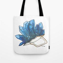 Blue Broken Teacup Geode Tote Bag