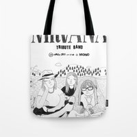 nirvana Tote Bags featuring NIRVANA by millo