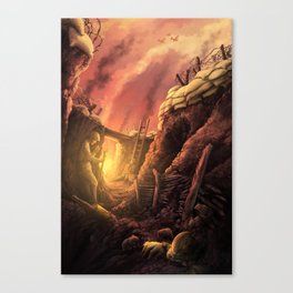 The Trenches of World War One (WW1) Canvas Print