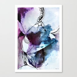 Butterfly, Waterink Canvas Print