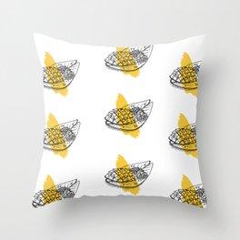 Mango sticky rice Throw Pillow