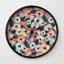 Pretty Petunias Wall Clock