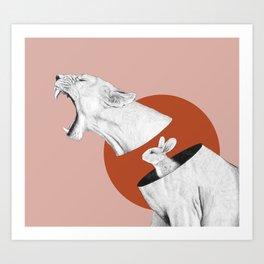 Lioness Bunny Art Print