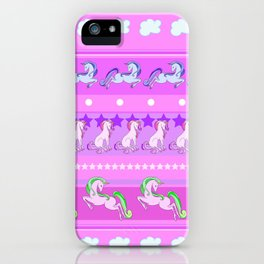 Unicorn Repeating Pattern iPhone Case