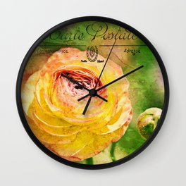 Flower Fields  Wall Clock