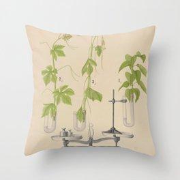 Antique Botany Throw Pillow