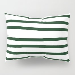 Simply Drawn Stripes in Pine Green Pillow Sham