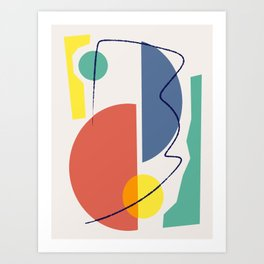 Shapes on color Art Print