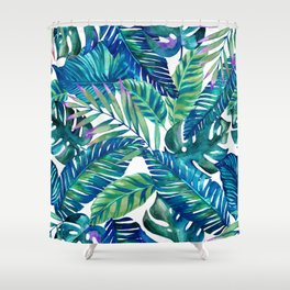 green Tropicana  Shower Curtain