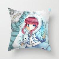 league of legends Throw Pillows featuring League of legends Annie by Rikku Hanari