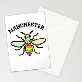 Manchester bee LGBT rainbow colours  Stationery Cards