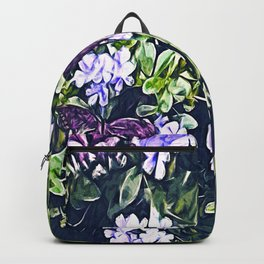 Impression of Summer (Butterfly and Periwinkle) Backpack