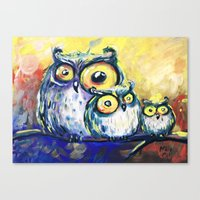 family Canvas Prints featuring family by Katja Main