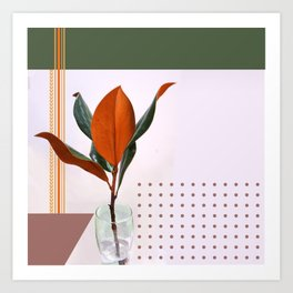 Plant on grid Art Print