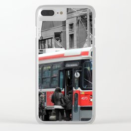 Red Rocket 3b Clear iPhone Case