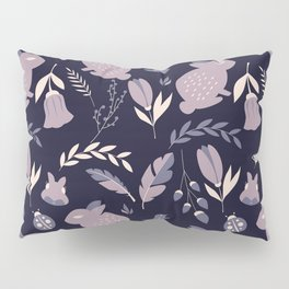 Rabbits and Flowers 005 Pillow Sham