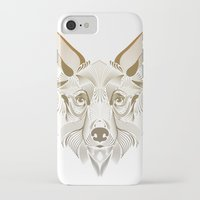 coyote iPhone & iPod Cases featuring Coyote by Kirsten Allen