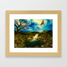 Waking Up at the Water Garden Framed Art Print