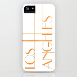 Los Angeles Deco Print iPhone Case