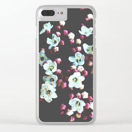 Viburnum Flowers Clear iPhone Case