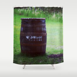 Whiskey Keg Shower Curtain