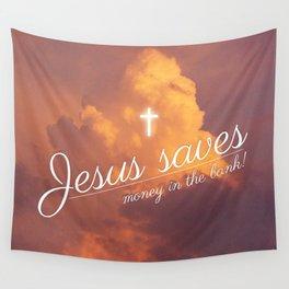 Jesus saves Wall Tapestry