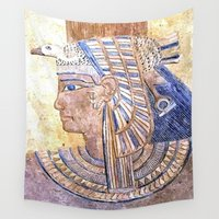 egyptian Wall Tapestries featuring Egyptian Queen by Brian Raggatt