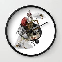 WE OWE AWE (Totem of the Rabbit) Wall Clock