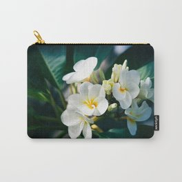 Pua Melia Na Puakea Onaona Tropical Plumeria Maui Hawaii Carry-All Pouch