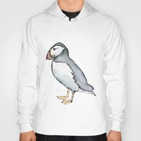 puffin Hoodies featuring puffin 3 by Beth Gilmore